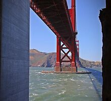 A different view of the Golden Gate Bridge by Tracy Freese