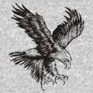 Bald Eagle (Black) by shirtsapalooza
