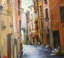 Whitecat Lane, Sienna Italy.   by Jan Lowe