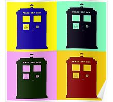 TARDIS Pop Art Poster