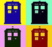 TARDIS Pop Art by luv2right
