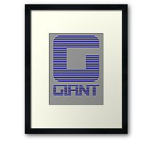 Halt and Catch the Giant Framed Print