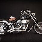 Angel on a Motorcyle by Amy Dee