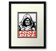 Dr. Doom Foot Dive Obey Design Framed Print