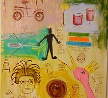 Basquiat Painting by Jason Wenzel
