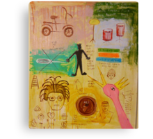Basquiat Painting Canvas Print