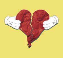 Kanye West 808s & Heartbreaks Deluxe Heart Art Kids Clothes