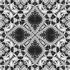 Tribal Fractals | Black White Geometric by webgrrl