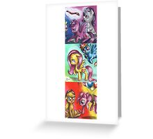 My little pony - The mane five Greeting Card