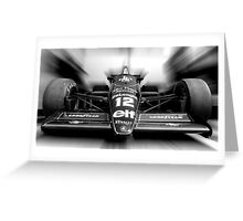 Ayrton Senna (Black & White) Greeting Card