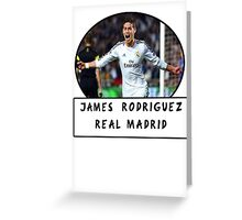 James Rodriguez (Real Madrid) Greeting Card