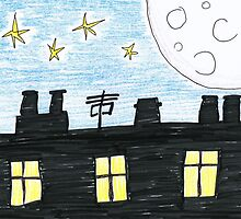Moon Over Suburbia by Ed Sweetman