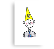 Dunce Hat Canvas Print
