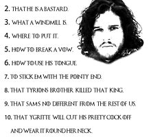 Jon Snow Knows by trippster