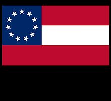 Stars & Bars; USA; First American National Flag; 11 stars; 1861 by TOM HILL - Designer
