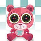 Teddy Bear - Star Eye Pink by Adamzworld