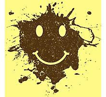 Vintage Mud Smiley Photographic Print