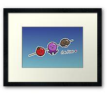 Cute Kebab - two lof bees Framed Print
