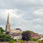 Spire Above Exeter, Devon.UK by lynn carter