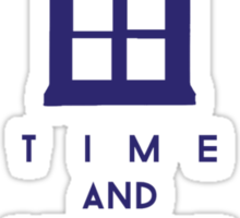 Time and relative dimension in space 2 Sticker
