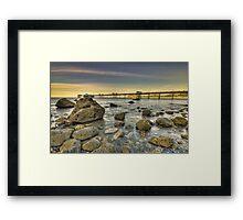 Sunset Pier. Framed Print