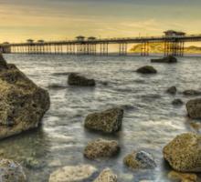Sunset Pier. Sticker