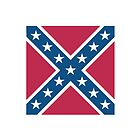 Confederate Rebel Dixie Flag Pure & Simple Portrait by TOM HILL - Designer