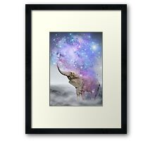 Don't Be Afraid To Dream Big • (Elephant Size Dreams) Framed Print