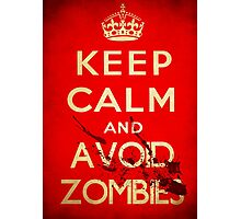 Keep calm and avoid zombies (vintage) Photographic Print