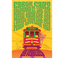 1960's Psychedelic San Francisco Cable Car Photographic Print