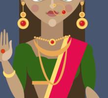illustration of Hindu deity mother Parvati Sticker