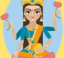 illustration of Hindu deity mother Lakshmi by OlgaBerlet