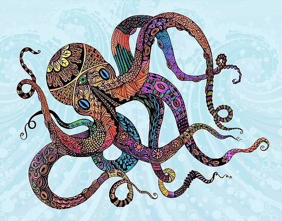Electric Octopus by Tammy Wetzel