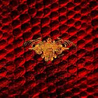 Red Snakeskin Pattern  by ArtVixen