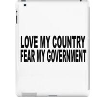 love my country iPad Case/Skin