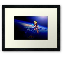 Happy, Go Lucky Captain Marvel Framed Print
