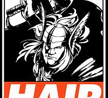 Thor Hair Obey Design by SquallAndSeifer