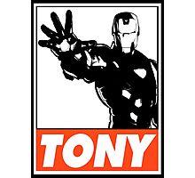 Iron Man Tony Obey Design Photographic Print