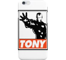 Iron Man Tony Obey Design iPhone Case/Skin