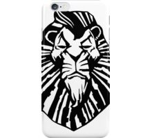 Broadway Poster Style Lion Scar - The Wannabe Lion King iPhone Case/Skin