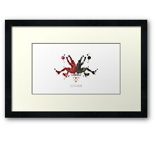 Heat Rorshaq Framed Print