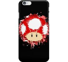 Splash Paint Super Mario Mushroom iPhone Case/Skin