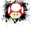 Abstract Super Mario Mushroom by scribbleworx