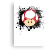 Abstract Super Mario Mushroom Metal Print