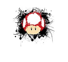 Abstract Super Mario Mushroom Photographic Print