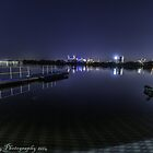 looking toward the city of perth lights  by warren dacey