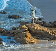 Redhead Beach Shark Tower by VinImagery