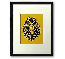 Broadway Poster Style Lion Scar - The Wannabe Lion King Framed Print