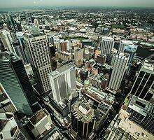 Sydney birdseye view by Gabor Pozsgai
