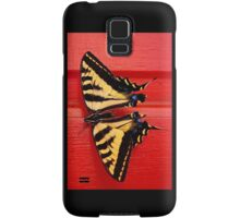 tiger swallowtail butterfly on unusual background Samsung Galaxy Case/Skin